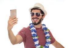 Adulto joven que toma un selfie Foto de archivo