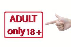 Adulto soltanto 18+ fotografie stock libere da diritti