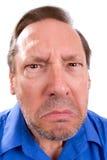 Adulto superior irritado Foto de Stock Royalty Free