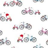 Adultos e bicicletas das crian?as Vetor sem emenda ilustração do vetor