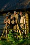 Adultos em trajes da pesca à corrica Foto de Stock Royalty Free