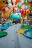 Adultos mayores en un partido Fotografía de archivo libre de regalías