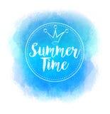 Adultos novos Mancha azul brilhante do vetor para o projeto do verão Fotografia de Stock Royalty Free