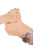 Adultos y las manos de los niños Foto de archivo libre de regalías
