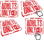 Adults only. Pack of signs Royalty Free Stock Images