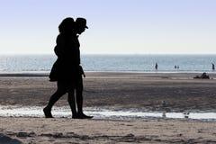 Adults, Beach, Black Royalty Free Stock Image