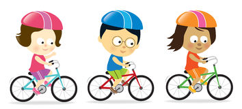 Adults biking Royalty Free Stock Photo