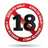 Adults only content sign. Vector age limit icon Royalty Free Stock Image