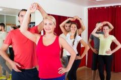 Adults dancing in dance studio Stock Photos