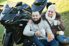 Adults drinking coffee Stock Image