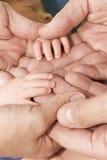 Adult´s e mão dos baby´s Imagem de Stock Royalty Free