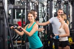 Adults having strength training Royalty Free Stock Photo