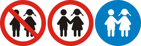 Adults only, just for kids Royalty Free Stock Photo