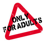 Only For Adults rubber stamp Stock Photography