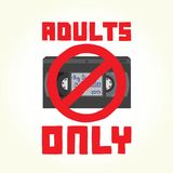 Adults only VHS cassette Royalty Free Stock Image