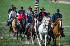 Adunata di guerra dei soldati del sindacato Fotografie Stock