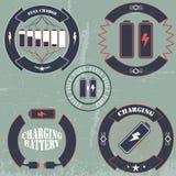 ładunek baterii sztandar Obraz Royalty Free