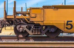 Ładunek linii kolejowej samochód Zdjęcie Royalty Free