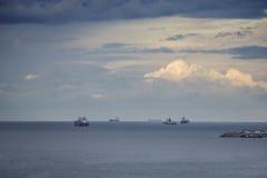 Ładunków statki w Czarnym morzu Zdjęcia Stock