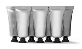Ładunki srebne kremowe tubki Obrazy Stock
