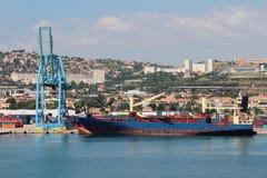 Ładunku miasto i port france Marseille Zdjęcie Royalty Free