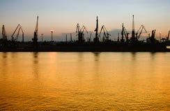 ładunku noc port Zdjęcie Stock