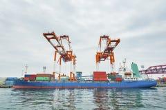 Ładunku port Obrazy Stock