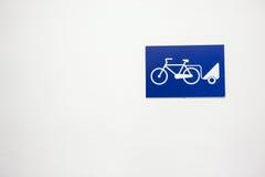 Ładunku roweru znak Zdjęcie Stock