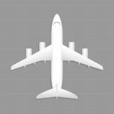 Ładunku samolot Odgórny widok Fotografia Royalty Free