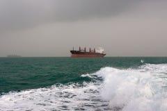 Ładunku statek w Perskiej zatoce Fotografia Stock