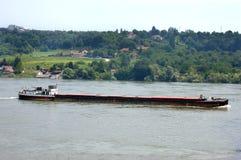 Ładunku statku transport na rzecznym Danube Obrazy Royalty Free