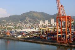 Ładunku terminal w porcie Spain, Trinidad i Tobago, - - Obraz Stock