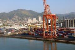 Ładunku terminal w porcie Spain, Trinidad i Tobago, - - Obrazy Royalty Free