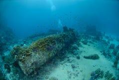 ładunku zaniechany shipwreck Obrazy Royalty Free