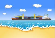 ładunku zbiornika statek Ilustracja Wektor