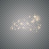 Gold glittering star dust vector illustration