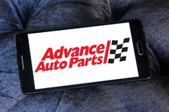 Advance Auto Parts logo. Logo of Advance Auto Parts on samsung mobile. Advance Auto Parts is a retailer of automotive parts and accessories in the United States Royalty Free Stock Images