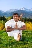 advance berg poserar yoga Royaltyfri Fotografi