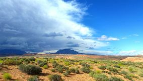 Advance of the desert relief Royalty Free Stock Images
