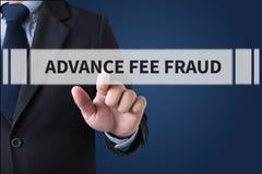 ADVANCE-FEE oszustwo obrazy stock