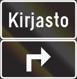 Advance Location Sign In Finland Royalty Free Stock Photos