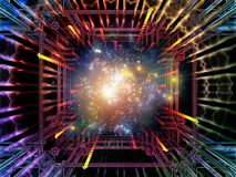 Advance of Quantum Space Royalty Free Stock Images