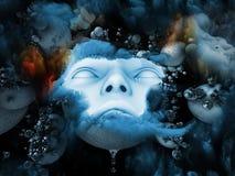 Advance of Schizophrenic Depression. Royalty Free Stock Images