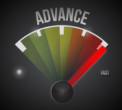 Advance speedometer illustration design Royalty Free Stock Photos