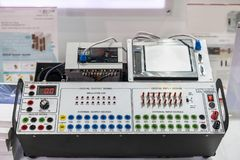 Advance technology automatic Programmable Logic Controller PLC high precision and accuracy equipment or accessories for training royalty free stock photography