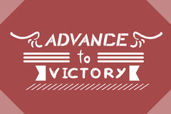 Advance to victory message Stock Photography