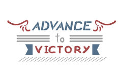 Advance to victory message Royalty Free Stock Photos