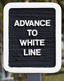 Advance to White Line Stock Photo