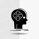 Advanced, cyber, future, human, mind Glyph Icon on Transparent Background. Black Icon royalty free illustration