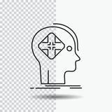 Advanced, cyber, future, human, mind Line Icon on Transparent Background. Black Icon Vector Illustration stock illustration